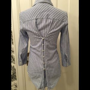 Elizabeth and James striped shirt back button XS